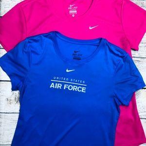 Set of 2 Nike dri-fit tees size M